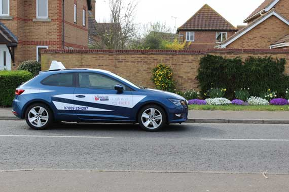 Image of driving lesson car